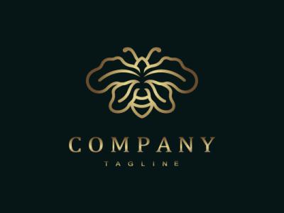 Oak Bee Logo oak leaf oak insect bee nature luxury animal modern company brand logo company branding vector branding logo design
