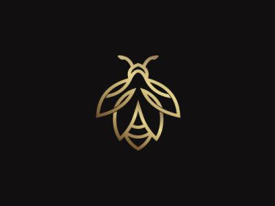 Golden Bee Logo luxury animal modern company brand logo company branding vector branding logo design