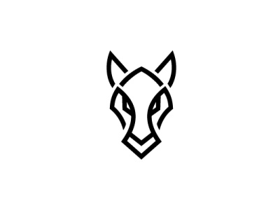 Horse Glyph Logo head horse strong animal modern company brand logo company branding vector branding logo design