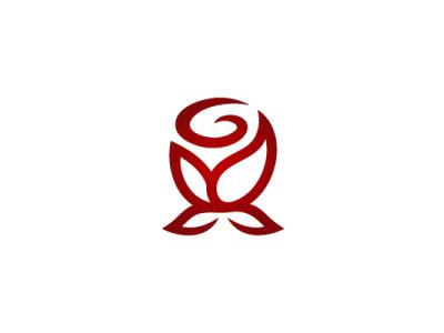 Rose Letter G Logo letter lettering flower rose nature modern company brand logo company branding vector branding logo design