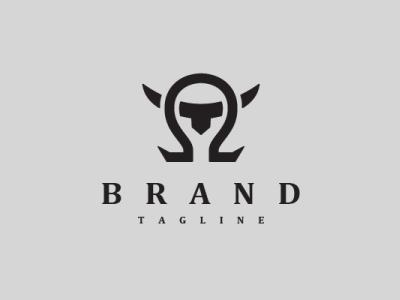 Omega Bull Logo letter strong animal modern company brand logo company branding vector branding logo design