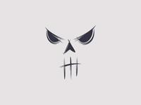 Abstract Skull Face Logo