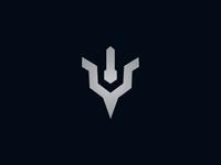 Letter Y Trident Power Logo