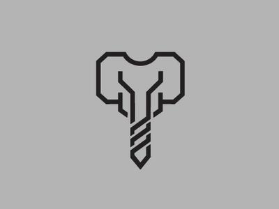Elephant Construction Logo