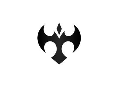 Trident Bat Eagle Logo