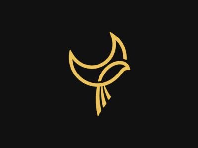 Cresent Moon Bird Logo