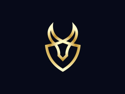 Golden Bull Shield Logo