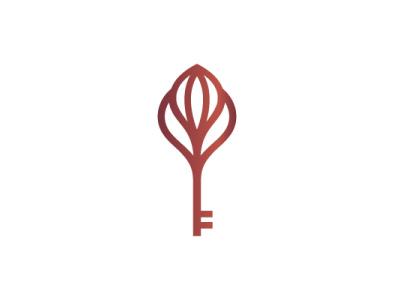 Tulip Key Logo key feminime ladies women girl power apartment hotel villa flower nature luxury modern company brand logo company branding vector branding logo design