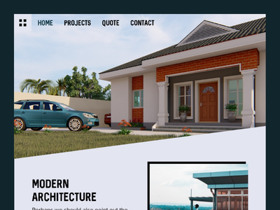 Architecture Landing Page landing page design web design user experience design user interface design