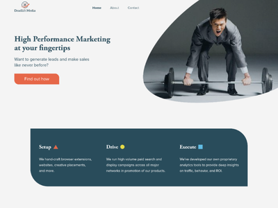 Deadlift Media Landing Page web design adobe xd user interface design homepage landing page