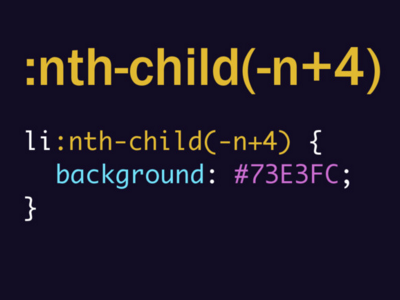 :nth-child(-n+4) talk pseudo css