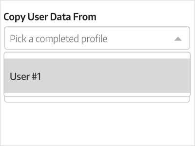 Pick a profile low fidelity automation dropdown type forms