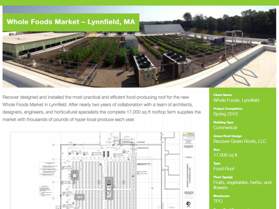 Portfolio Detail for Recover Green Roof case study portfolio green