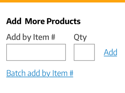 Add More Products - lowfi add products form lowfi cart