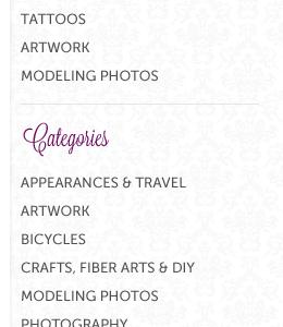 Sidebar purple gray floral sidebar atedrake categories