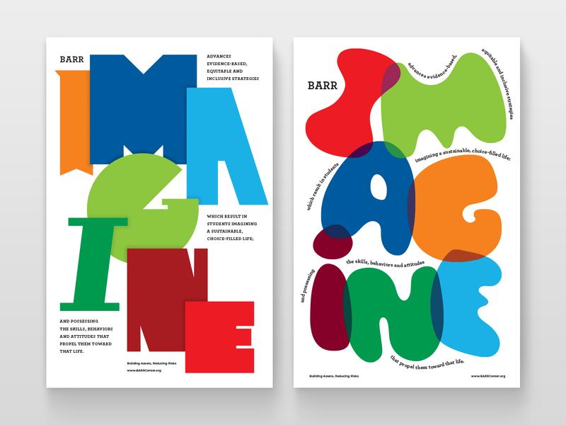 Imagine Imagine inclusive typogaphy school education design nonprofit poster