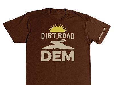 DIRT ROAD DEM vote politics sun america rural democrat t-shirt vector identity illustration