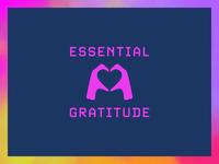 Essential Gratitude gratitude logo instagram pandemic branding
