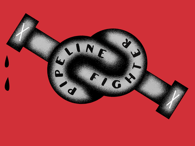 The End of New Pipelines protest oil pipeline grit illustration