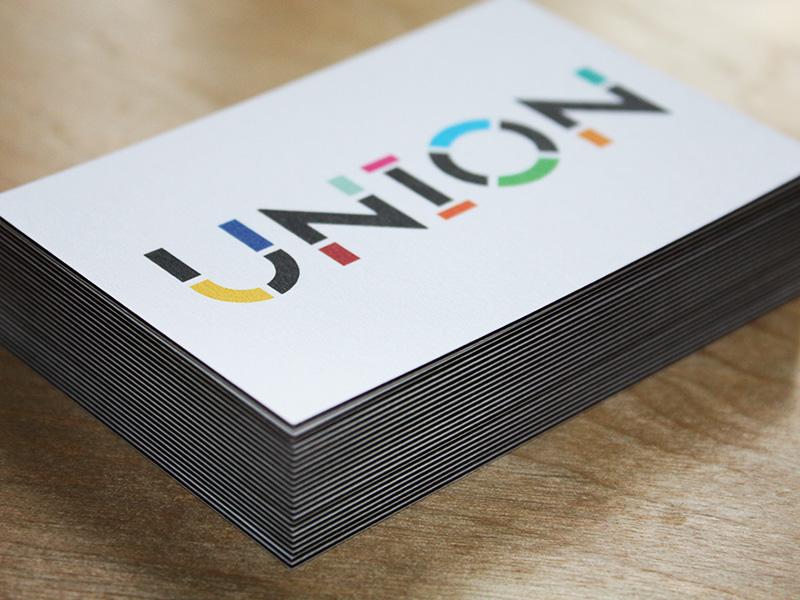 UNION Cards identity logo business card art community change