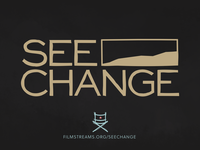 SEE CHANGE community nonprofit sketch director cinema film logo branding