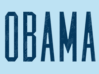 OBAMA graphic design obama type politics