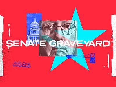 Senate Graveyard grave star red politics america senate illustration design