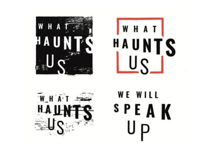 What Haunts Us Logo Concepts