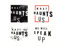 What Haunts Us Logo Concepts