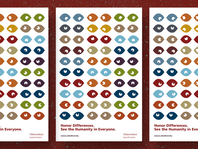 See the Humanity inclusion diversity students university eye campaign posters