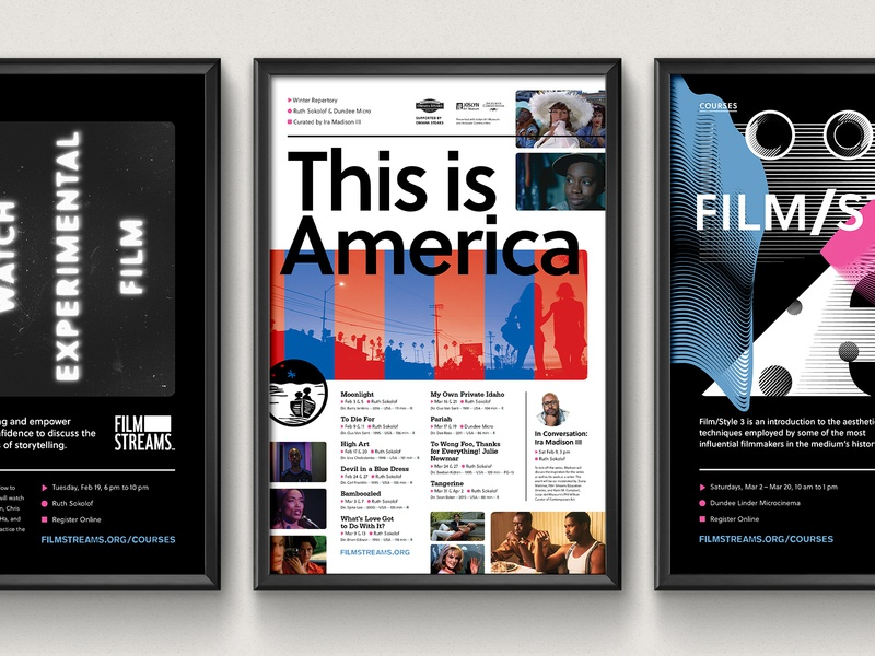 This is America brand layout america cinema film poster