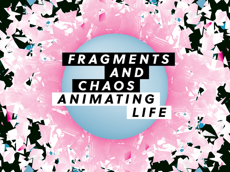 Fragments and Chaos illustration identity brand orb nonprofit cinema pink graphic design poster film