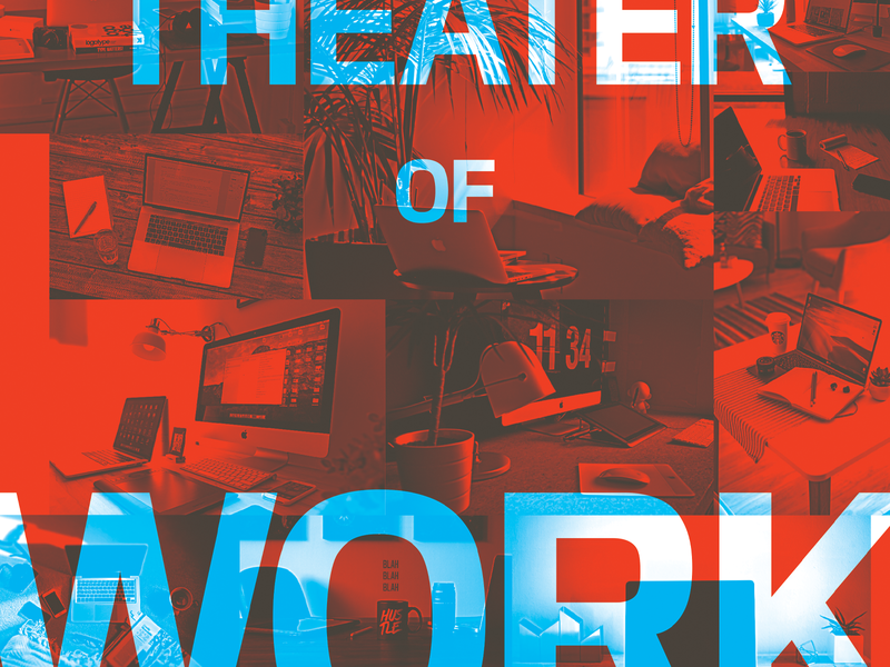 Theater of Work lecture graphic design hustle workspace architect screenprint poster