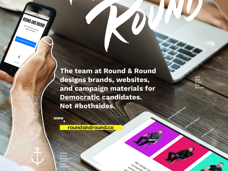 Not #bothsides typogaphy web design branding graphic design democrats politics ad