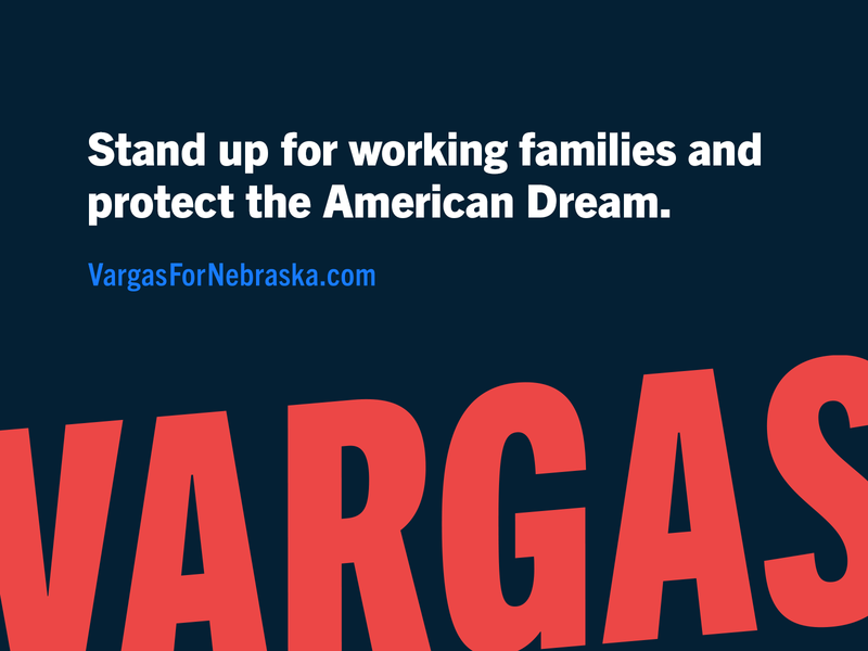 VARGAS campaign trade gothic america candidate politics logo brand