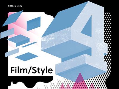 Film/Style 4 brand vector black and white cinema film community nonprofit poster