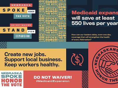Medicaid Expansion healthcare campaign design politics identity community nonprofit brand