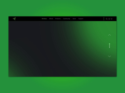 Web Landing Page Concept - Razer graphic design gaming app gaming website gaminglogo website concept website design website web uidesign black green gradient product mouse gaming razer uidailychallenge uidaily uiux ui