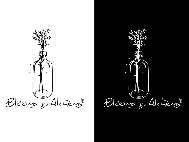 Blooms & Alchemy Branding graphic design vector brand logodesigner illustration brand logo concept logo development logo design logo branding design branding