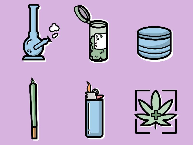 420 Icons illustration illustrator vector icon graphic design vector graphics icon design icons designer design cannabis