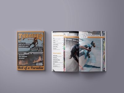 Thrasher Magazine Redesign branding design typography thrasher magazine design magazine graphic designer graphic design