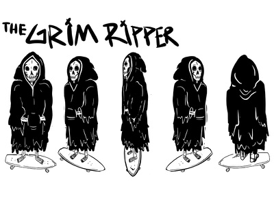 Character Turnaround grim reaper characterdesign character illustrator illustration