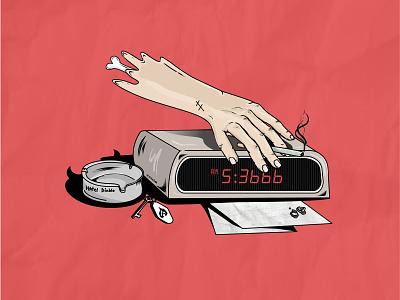 5:3666am Illustrator branding design branding graphic design design vector illustrator vector graphics hotel diablo machine gun kelly mgk