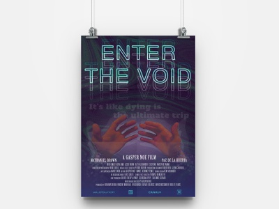 Enter The Void Poster Design photo manipulation enter the void typography graphicdesign design