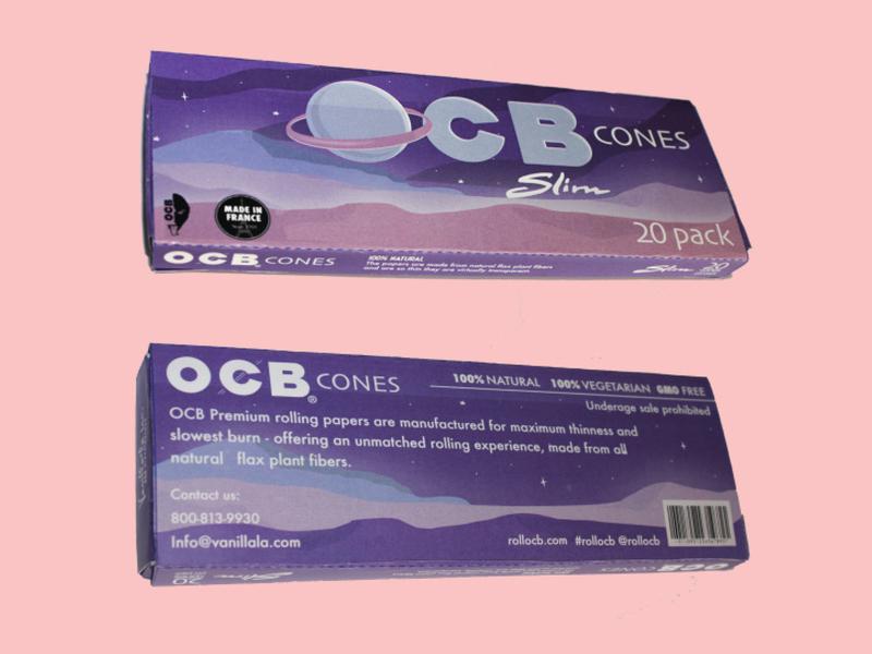 OCB Cones Package Design brand branding design graphic design illustrator vector graphics vector branding oragami illustrator cc die cut typography illustraion package design design