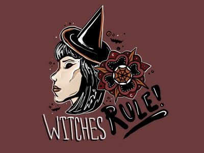 Witches Rule photoshop illustration witches halloween creeptober