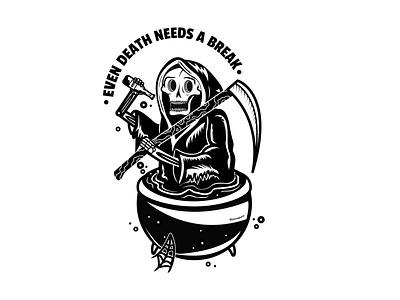 The Reaper creeptober halloween grimreaper designer typography vector graphics branding vector illustrator illustration graphic design design