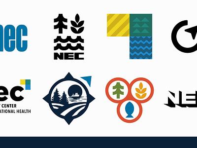NEC Brand Exploration logomark forestry fishing farming safety identity logo branding