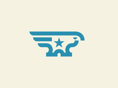 Iron Eagle thick lines america july 4th freedom simple eagle iron