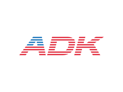 ADK USA usa stripes simple typography type adk adirondacks